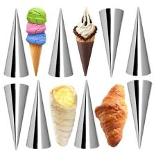 Cream Horn Molds 12Pcs Large Size Baking Cones Stainless Steel Roll Horn For b3e