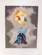 Salvador Dali 1960 DIVINE COMEDY PARADISE #15 Color Woodcut Wood Block Engraving