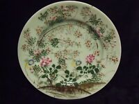 """19TH CENTURY FAMILLE VERTE CHINESE PORCELAIN HAND PAINTED 8 1/2"""" PLATE"""