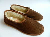 New Unisex Natural Leather Slippers Sheepskin Suede Winter Shoes