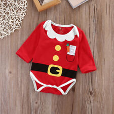 Newest  Christmas  Xmas Infant Baby Boy Girl Clothes Party Romper Outfit Costume