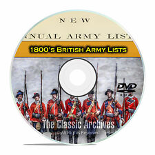 1800's British Army Lists, 1840-1899, 43 Volumes of British History PDF DVD E75