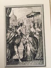 Pair of Antique Late 1700's French Copper Plate Engravings De La Fosse Delafosse