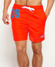 New Mens Superdry Premium Water Polo Shorts Havana Orange