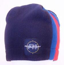 Vintage POLO SPORT R1 Ralph Lauren MADE IN USA Fleece Beanie Winter Ski Hat Cap