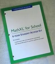 MathXL for School 6 Year Student Access Kit 2013 Math XL Pearson 9780131368835