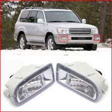 1998-2007 For Toyota Land Cruiser LC100 Pair Front Bumper Fog Driving Light Lamp