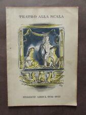 Teatro Scala Stagione Lirica 1956 1957 Aida Verdi Simionato Stella Di Stefano