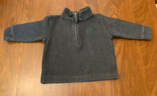 Boys polo by ralph lauren quarter zip sweater size 12 Months