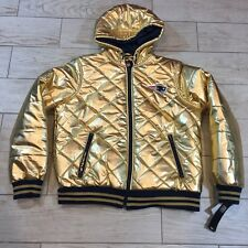 New England Patriots GOLD Metallic Foil GIII NFL Hood Jacket Full Zip XL Fashion
