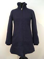 J. Crew Womens Lodge Coat in Italian Stadium-Cloth Wool Blend Navy Blue Sz 0 NWT