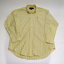 Men's Polo Ralph Lauren Classic Fit Long Sleeve Button Yellow Large EUC