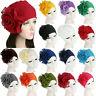 Women Big Flower Muslim Turban Hat Hair Loss Head Scarf Cancer Chemo Beanie CAP