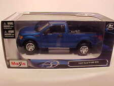 2010 Ford F-150 Pickup Truck STX Die-cast 1:27 Blue by Maisto 7.75 inch 1/24