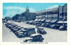 Denison IA Schnoor Furniture Truck~National Bank~Logan Bldg~1930s Bluesky