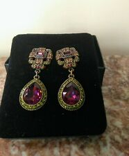 New, Large Heidi Daus Time After Time Swarovski Crystal Comfort Clip On Earrings
