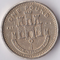 Rare Gibraltar Castle £1 One Pound Coin Circulated Coin Hunt Various Years 83 on