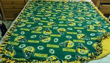 GREEN BAY PACKERS HANDCRAFTED  LICENSED FLEECE BLANKET