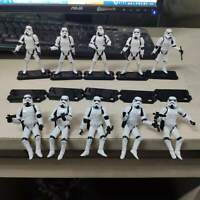 """Lot 10 3.75"""" Star Wars Stormtroopers OTC Trilogy + Guns & Stands Figures Toys"""