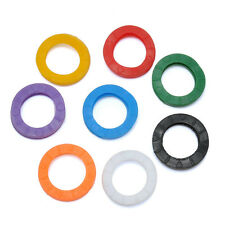 8x Silicone Hollow Colors Key Cap Covers Topper Keyring Key Marker Sign Tag Accs