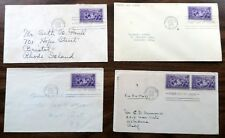4 855 FDCs EACH WITH RETURN ADDRESSED ON REVERSE EACH ONE UNIQUE 1939