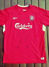 Hand Signed Liverpool Champions League 2005 Home Shirt - Istanbul