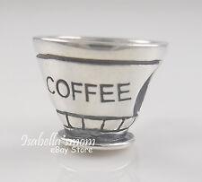 CUP OF COFFEE Genuine 925 STERLING SILVER Bead FRIENDS~MUG European Charm NEW