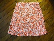 Motto Orange and White Floral Print Knit Skirt     Size 2X