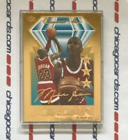 Michael Jordan 1996 Upper Deck Diamond Stars Numbered 23K Gold Sculptured Card