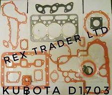 Kubota joint kit moteur D1703 3 cylindre kit d'étanchéité et joints complet 87mm alésage