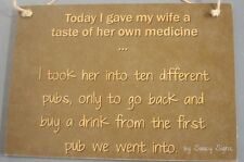 Wife Ten Different Pubs Shopping Sign - Bar Pub Wine Beer Chapagne Tavern Cute