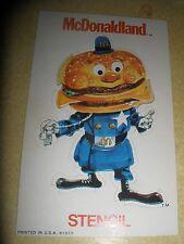 Vintage McDonaldland Big Mac Stencil 1973 Printed in U.S.A