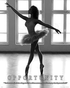 Ballet Dance Class Motivational Poster Art Print Shoes Kids Room Wall Decor