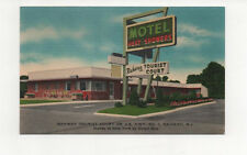 RAHWAY NJ Postcard c1950s Rahway Tourist Court on US Hwy No. 1 Roadside America