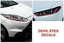 Devil Eyes Headlights Stripes FORD Fiesta Focus Mondeo TDCi ST RS Kuga Mustang