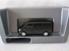 HERPA VW VOLKSWAGEN T6 MULTIVAN 2017 in BLACK Model is Plastic 1/87 or HO SCALE
