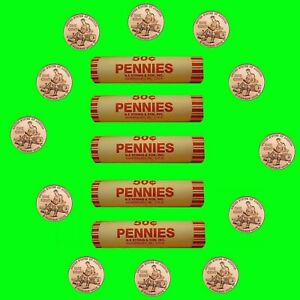 5 Unc 50 Cent NFS Rolls -  2009-P Lincoln Bicentennial Formative Years Penny