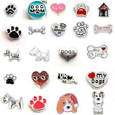 Buy 3, Get 2 (See Descrip)! DOG THEME STYLE Floating Charm for Floating Locket