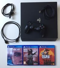 PS4 Pro 1TB Bundle Bloodborne, Red Dead Redemption 2, Detroit + Garantie