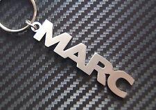 MARC nom personnalisé Porte-clé porte-clé Sur-mesure Acier Inoxydable Cadeau