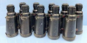 LEICA LEITZ ELCAN 7X50 MILITARY NATO BINOCULARS LOT OF 5 AVERAGE