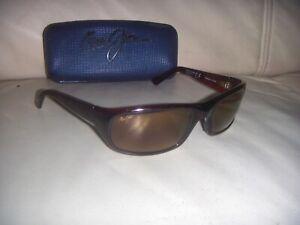 Maui Jim MJ-103 Stingray Tortoise Brown Shield Polarized Sunglasses - ITALY