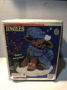 "Vintage Ceramic Ready to Paint ""Jingles Santas best Friend"""