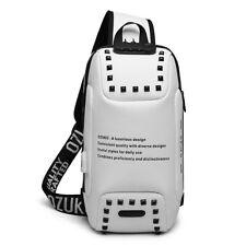 Multi-functional chest bag,white-black