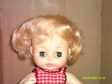 1974 vintage 13 in. soft vinyl plastic jointed Horsman doll