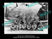 OLD POSTCARD SIZE PHOTO OF US AIR FORCE 90th BOMB GROUP ASTERPEROUS c1940