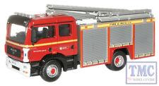 76MFE001 Oxford Diecast 1:76 Scale OO Gauge Avon Fire & Rescue MAN Pump Ladder