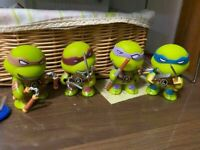 4 Pcs Teenage Mutant Ninja Turtles Mini Action Figures Toy Gift TMNT Collection