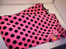 Joe Boxer Womans Pink Black Polka Dot Lounge Sleep Pants 1XL Halloween
