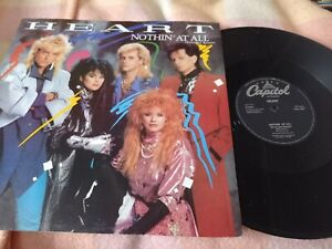 """Heart - Nothin at all 12"""" P/S 1987 VG/VG"""